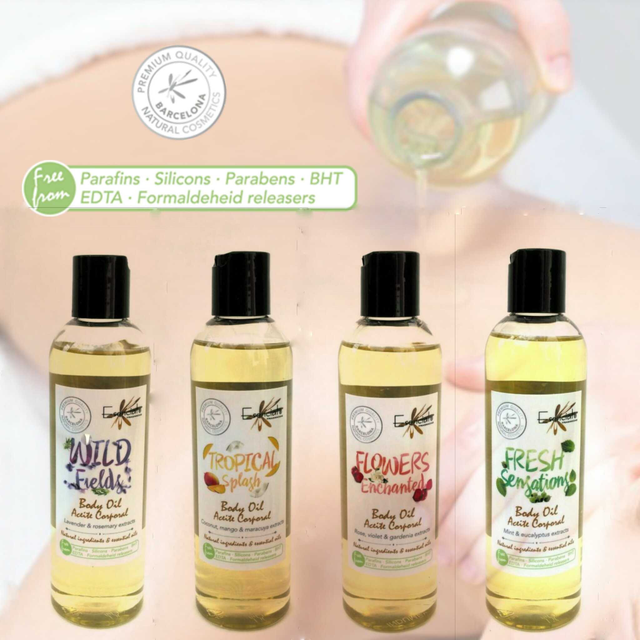 Aceites corporales 100% naturales